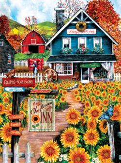 At the Sunflower Inn - Scratch and Dent Nostalgic / Retro Jigsaw Puzzle