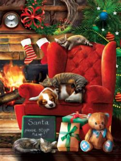 Santa Stop Here Christmas Jigsaw Puzzle