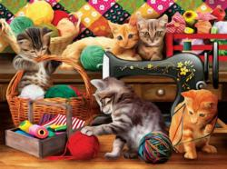 Fun in the Craft Room Cats Jigsaw Puzzle
