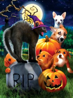 Don't mess with Kitty Halloween Jigsaw Puzzle