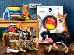 Laundry Room Laughs Dogs Jigsaw Puzzle