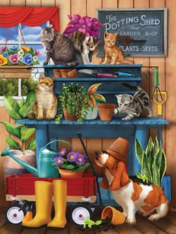 Trouble in the Potting Shed Garden Jigsaw Puzzle
