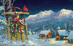 Cardinals Holiday Christmas Jigsaw Puzzle