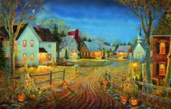 A Country Town in Autumn Halloween Jigsaw Puzzle