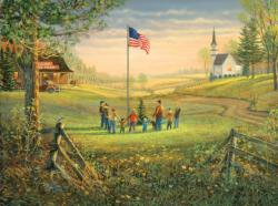 A Time to Remember Americana & Folk Art Jigsaw Puzzle