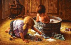 Uh Oh! Domestic Scene Jigsaw Puzzle