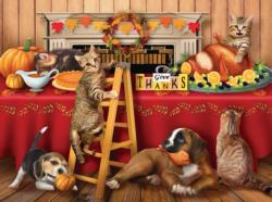 Give Thanks Thanksgiving Jigsaw Puzzle
