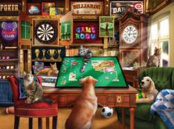 Hanging Out in the Game Room Domestic Scene Jigsaw Puzzle
