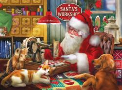Santa's Quilting Workshop Christmas Jigsaw Puzzle