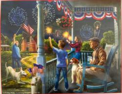 Fourth of July at Granpa's Fourth of July Jigsaw Puzzle