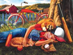 Break Time Outdoors Jigsaw Puzzle