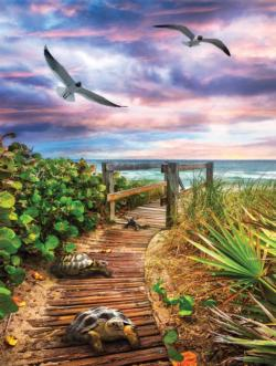 Path to the Beach Seascape / Coastal Living Jigsaw Puzzle