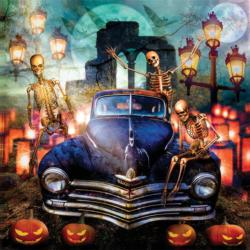 The Old Plymouth on Halloween Halloween Jigsaw Puzzle