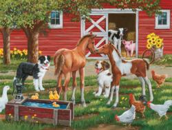 Welcome the new pony Chickens & Roosters Large Piece