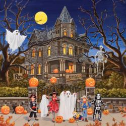Beware Haunted House Halloween Jigsaw Puzzle