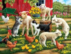 Lambs on the Loose Farm Animals Jigsaw Puzzle