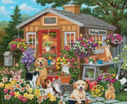 Visiting the Potting Shed Garden Jigsaw Puzzle