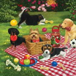 Puppies Take Over Dogs Jigsaw Puzzle