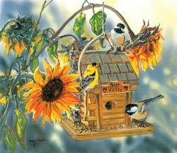 Birds at Bear Valley Flowers Jigsaw Puzzle