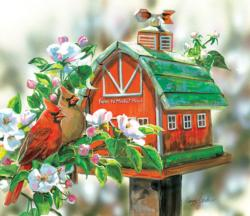 Farm to Market Road Birds Jigsaw Puzzle