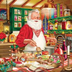 Cooking Santa Kitchen Jigsaw Puzzle