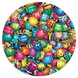 Beetlemania Butterflies and Insects Round Jigsaw Puzzle