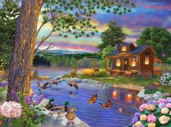 Peace River Cottage / Cabin Jigsaw Puzzle