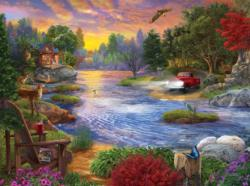 Headlights Cottage / Cabin Jigsaw Puzzle
