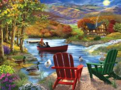 Lake Life Cottage / Cabin Jigsaw Puzzle