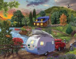 Campers Coming Home Cottage / Cabin Jigsaw Puzzle
