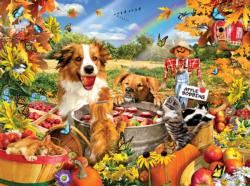 Bobbing for Apples Fall Jigsaw Puzzle