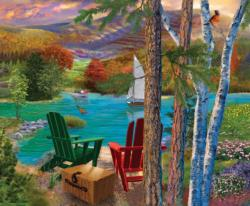 Lakeside View Lakes / Rivers / Streams Jigsaw Puzzle