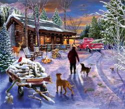 Winter Refuge Cottage / Cabin Jigsaw Puzzle