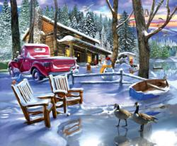 Snowed in Cottage / Cabin Jigsaw Puzzle