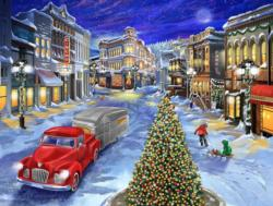 A Drive Down Main Street Christmas Jigsaw Puzzle