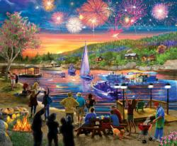Summer Fireworks Lakes / Rivers / Streams Jigsaw Puzzle