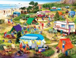 Seaside Campground Seascape / Coastal Living Jigsaw Puzzle