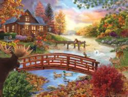 Autumn Evening Sunrise / Sunset Jigsaw Puzzle