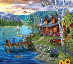 Peaceful Summer Cottage / Cabin Jigsaw Puzzle