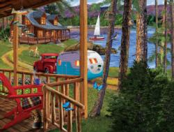Returning Home Cottage / Cabin Jigsaw Puzzle