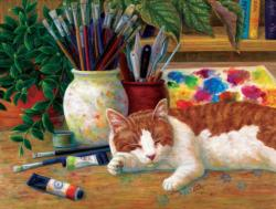 Painter's Helper - Scratch and Dent Cats Jigsaw Puzzle
