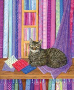Quilt Shop Playmate Cats Jigsaw Puzzle
