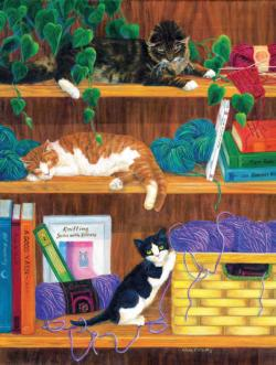 A Good Yarn Cats Jigsaw Puzzle