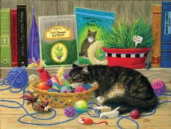 Tucker's Toy Basket Cats Jigsaw Puzzle
