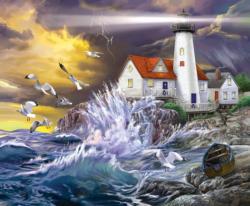 Stormy Coast Lighthouses Jigsaw Puzzle