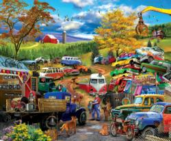 Junk Yard Tour Cars Jigsaw Puzzle