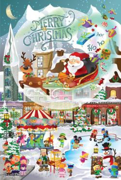 A Christmas Village Family Fun Jigsaw Puzzle