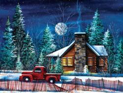 Night Watch Cabin Night Jigsaw Puzzle