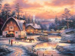 Country Holidays Christmas Jigsaw Puzzle