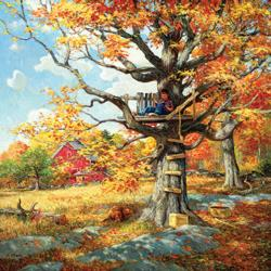 After School Hangout Fall Jigsaw Puzzle